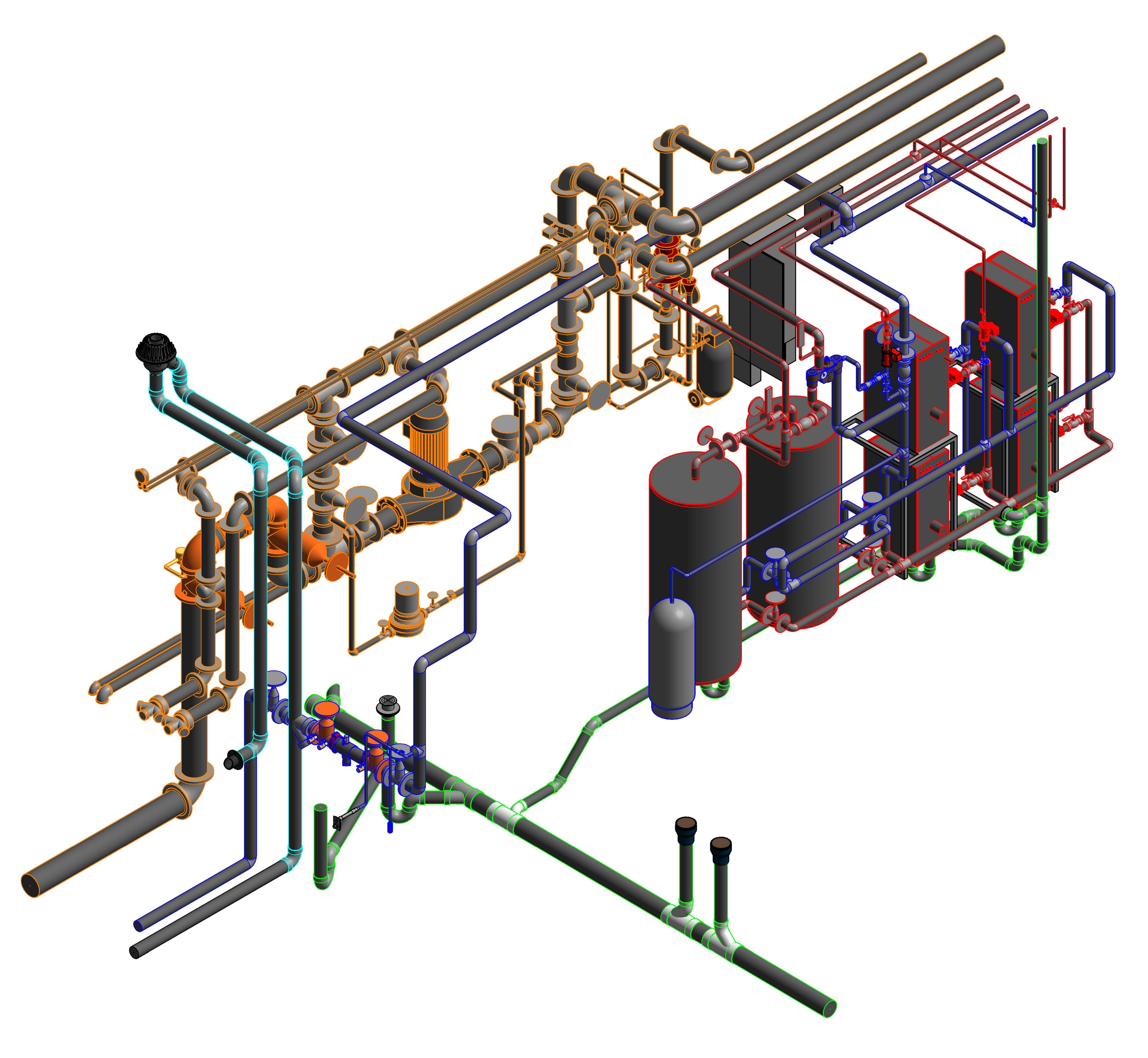 how to draw gas piping in revit